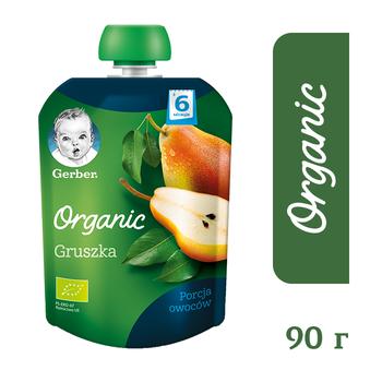 Пюре Gerber organic со вкусом груши. пауч упаковка 90 г. С 6 мес+