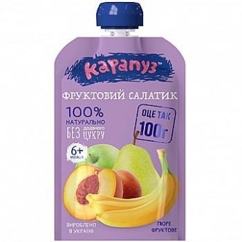 Пюре Карапуз «Фруктовый салатик», doy-pack, 100г