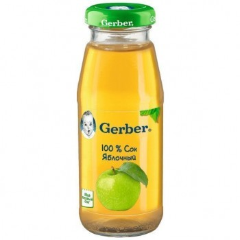 Сок Gerber груша, стекло, 175 мл. С 6 мес+. 100% натуральный продукт!