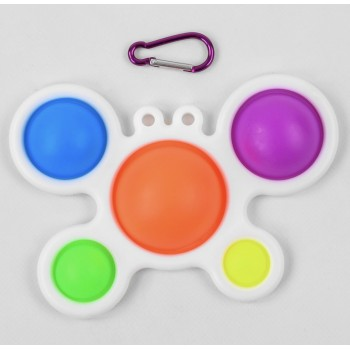 Игра Антистресс C45452 pop-it simple dimple 23см, 5 пупырок, брелок, карабин. В кульке