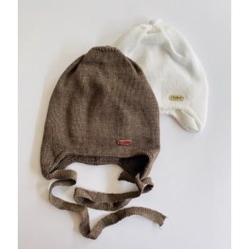Демисезонные шапки на хлопковой подкладке, объём 36-38 (Новорожденка)