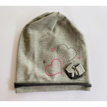 Трикотажная шапка AJS (Польша), объём 52-54 см, возраст 10-12 лет