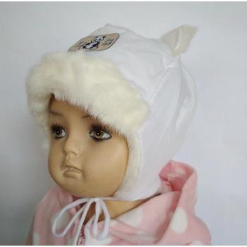 """Зимняя шапка-шлем """"Мишутка"""""""