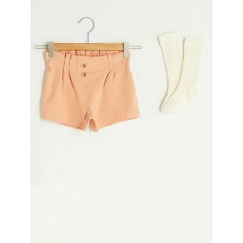 Комплект из двух предметов: нарядные шорты и гольфы, размер 3-4(98/104), полномерный.