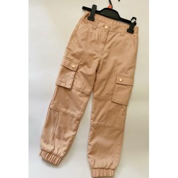 Джогеры для девочки, спортивный крой, с карманами. Размер 7-8 лет(128см)