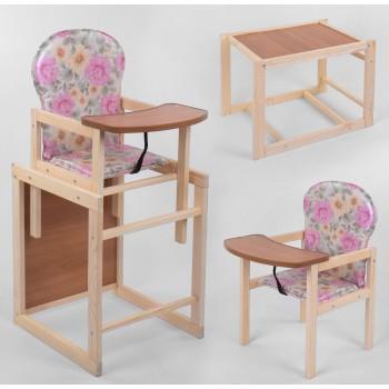 """Деревянный стульчик для кормления """"Розы""""."""