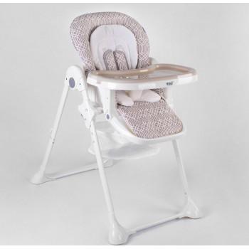 Стульчик для кормления Toti.Мягкий вкладыш,съемный столик,регулировка высоты и положения сидения.Цвет серый