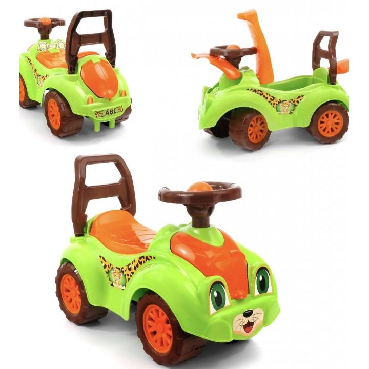 """Беби машина """"Кошечка"""" 0823 (3) . Два цвета зеленый и малиновый"""