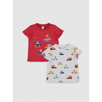 Комплект футболок Waikiki, размеры: 3-6 мес(62-68), 6-9 мес(68-74 см)