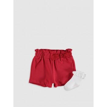 Waikiki комплект шорты и носочки с рюшами. Размеры: 74-80; 80-86; 86-92.